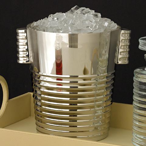 Global Views - Ribbed Nickel Ice Bucket - 9.90872