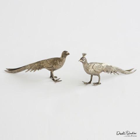 Global Views - Pair of Metal Peacocks - D9.90007