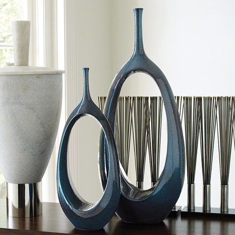 Global Views - Open Oval Ring Vase - 1.10050