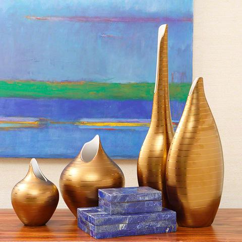 Global Views - Golden Stripe Vase - 1.10248