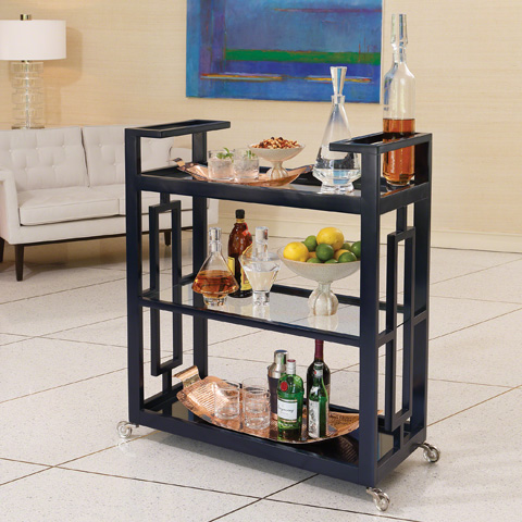 Global Views - Grid Block Bar Cart - 2492