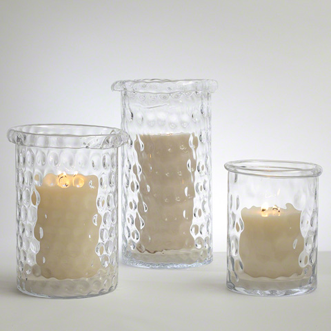 Global Views - Honeycomb Hurricane Vase - 6.60155