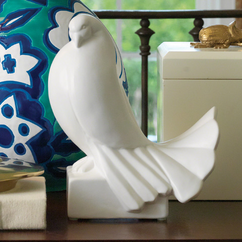 Global Views - Ceramic Dove - 8.81990