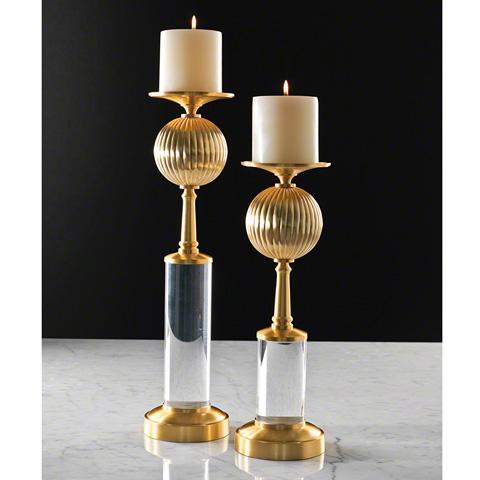 Global Views - Fluted Ball Candleholder - 9.92039
