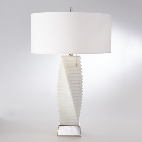 Global Views - Twisted Marble Lamp - 9.92045