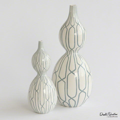Global Views - Linking Trellis Double Bulb Vase - D8.80021