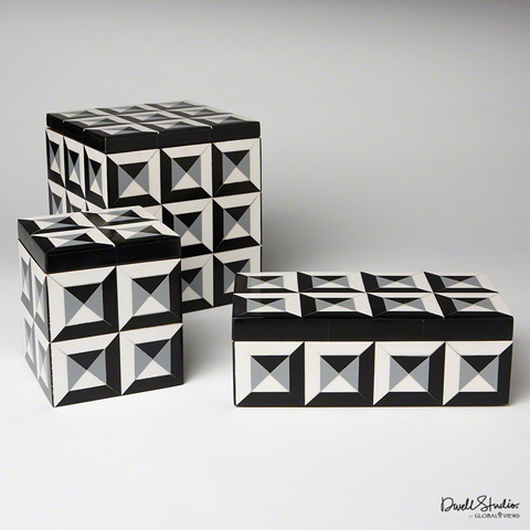 Global Views - Deco Border Square Box - D9.90016