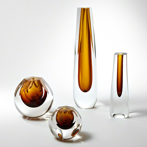 Global Views - Square Cut Glass Vase - 6.60270