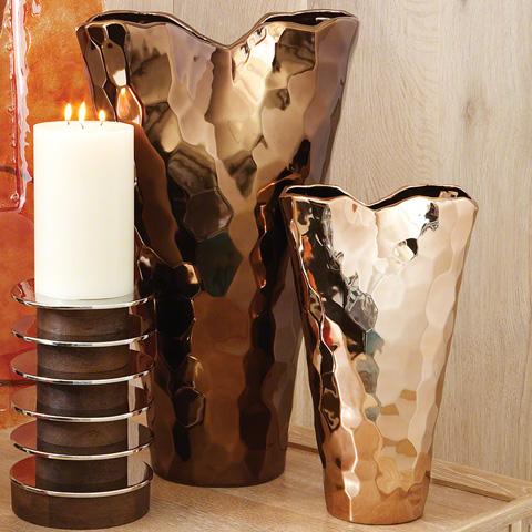 Global Views - Bronze Nugget Vase - 8.81128