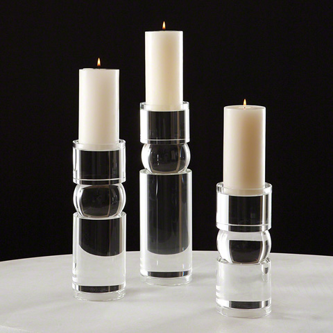 Global Views - Bipolar Crystal Candleholder - 8.81566