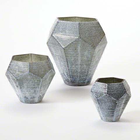Global Views - Faceted Stria Vase - 8.81985
