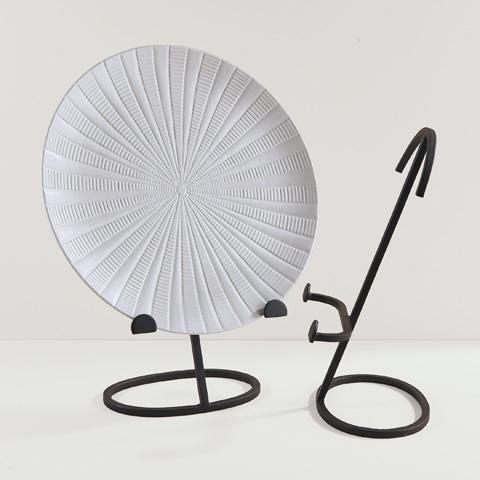Global Views - Oval Shape Iron Plate Stand - 9.90396