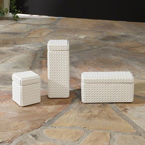 Global Views - Dimple Ceramic Tall Box - 1.10349