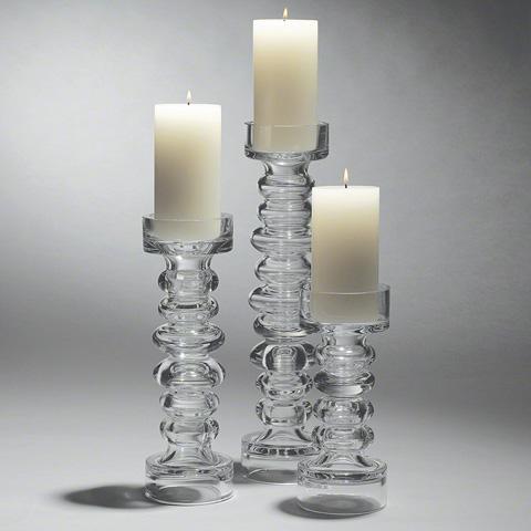 Global Views - Glass Ribbed Candleholder - 1522
