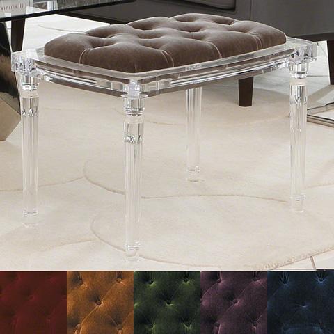 Global Views - Marilyn Acrylic 4 Leg Bench - 3.31242