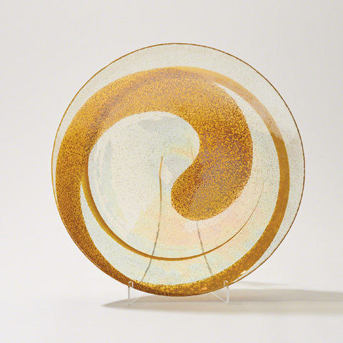 Global Views - Canary Swirl Charger - 3.31266