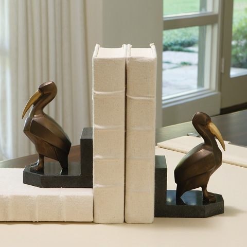 Global Views - Deco Pelican Bookends - Pair - 8.82288