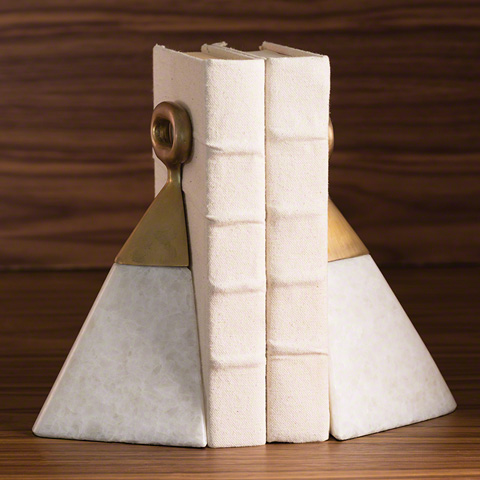 Global Views - Equestrian Marble Bookends - 8.82322