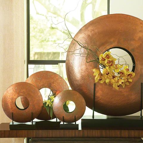 Global Views - Copper Disc Vase - 9.91009