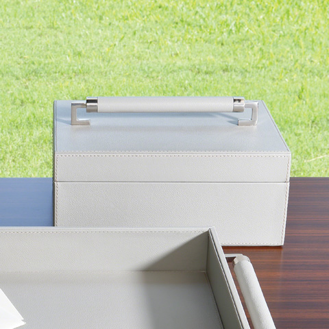 Global Views - Wrapped Leather Handle Box - 9.92616