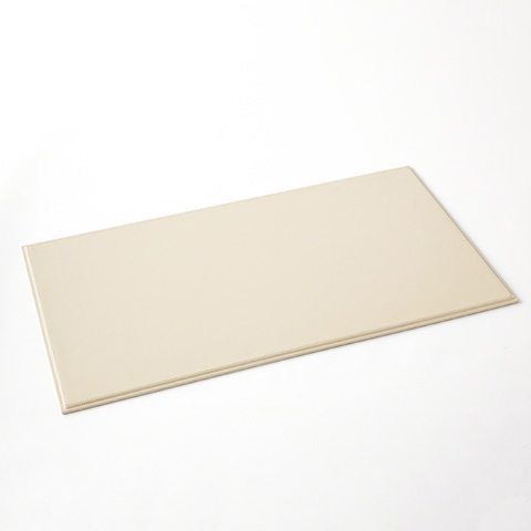 Global Views - Refined Leather Desk Blotter in Ivory - BB-DS-918