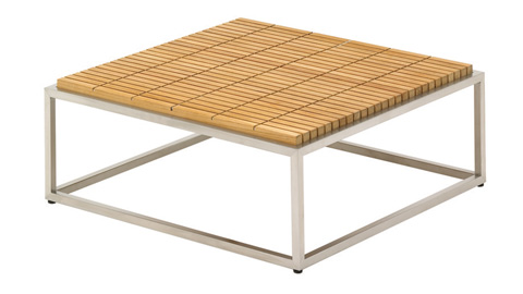 Gloster - Cloud Coffee Table with Teak Top - 6031