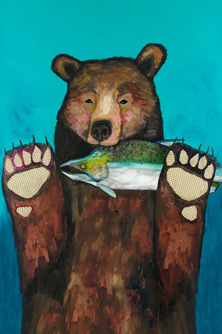 Greenbox Art - Salmon For Dinner Art - NB42124