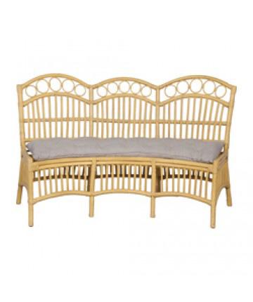 Guildmaster - Three Seat Rattan Bench With Cushion - 654007