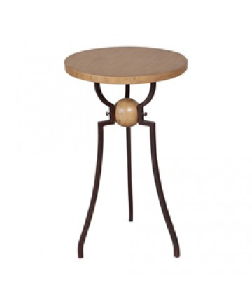 Guildmaster - Wood And Metal Accent Table - 714057
