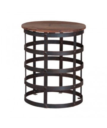 Guildmaster - Reclaimed Metal And Wood Side Table - 714082-SB