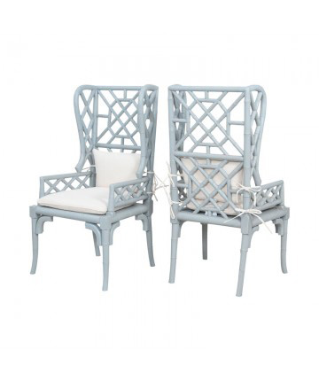 Guildmaster - Bamboo Wing Back Chair - Pair - 6915510P