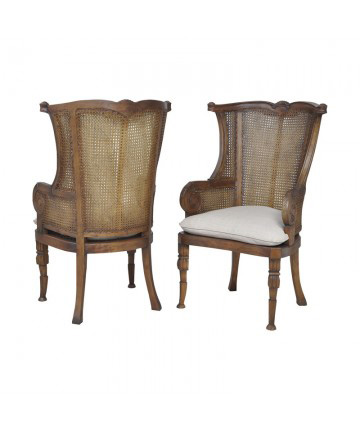 Guildmaster - Caned Wing Back Chair - Pair - 6915513P
