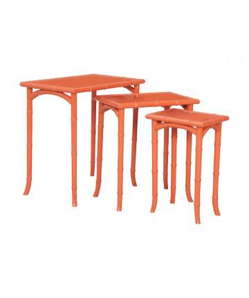 Guildmaster - Loft Bamboo Nesting Tables - Set Of 3 - 7115540S