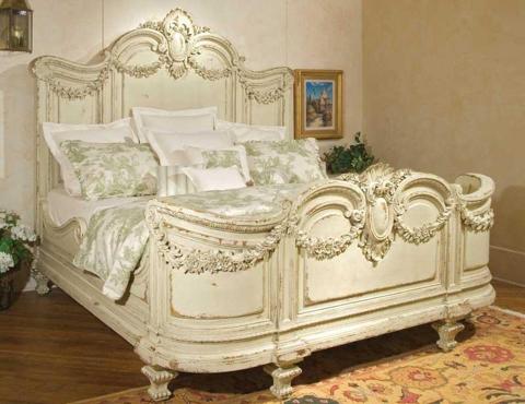 Habersham - Florentina King Bed with Garland Carving - 57-5110