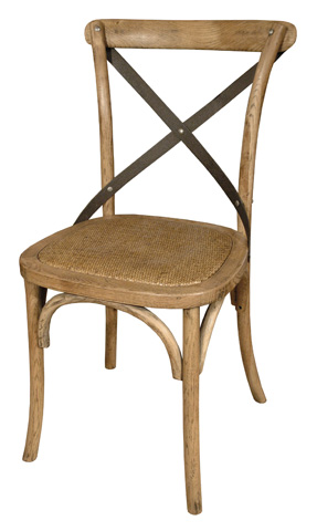 GJ Styles - Cross Chair Natural with Braided Seat - CS26