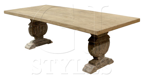 GJ Styles - Dining Table with Carved Urn Base - SN87