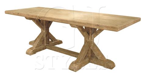 GJ Styles - X Frame Base Dining Table - SN102