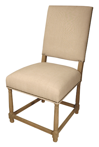 GJ Styles - Linen Dining Side Chair with Square Back - AH28