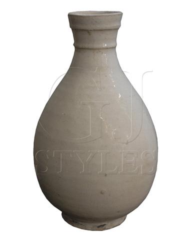 GJ Styles - White Porcelain Small Round Vase - SN120