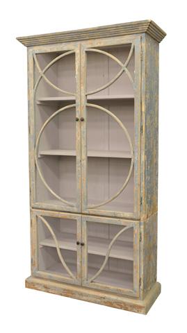 GJ Styles - Bookcase in Distressed Ocean Blue - BT01