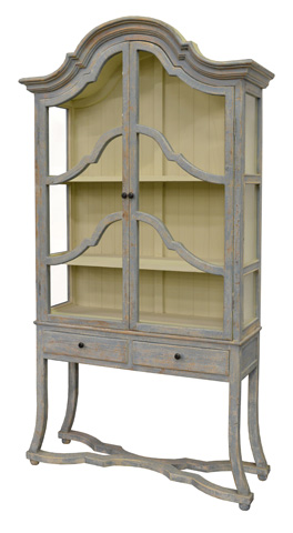 GJ Styles - Arched Cabinet in Distressed Light Blue - BT10