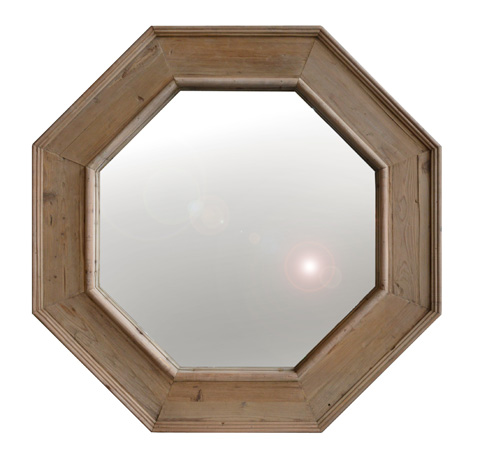 GJ Styles - Old Pine Natural Octagonal Mirror - LD100-NA