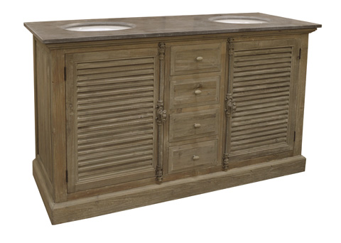 GJ Styles - Louvered Door Cabinet in Washed Pine - LD111-OL
