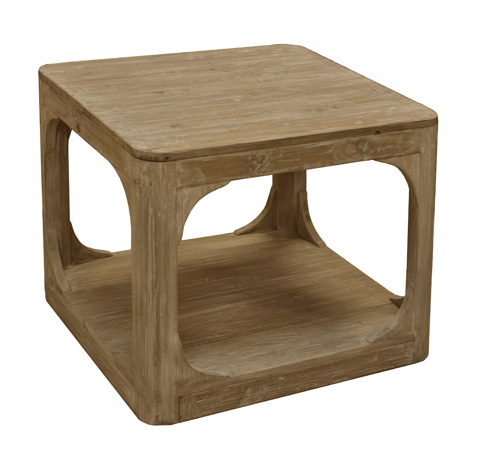 GJ Styles - Square Side Table in Washed Pine - LD116-OL