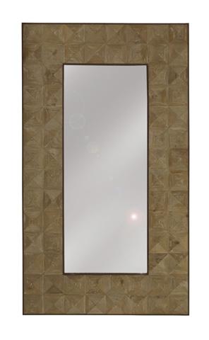 GJ Styles - Large Pine Diamond Cut Mirror - LD121-OL