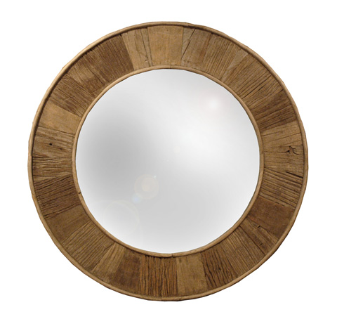 GJ Styles - Round Mirror in Natural Pine - LD45-NA