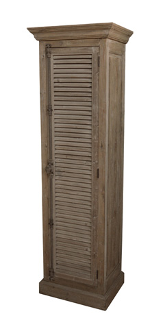 GJ Styles - Right Opening Louvered Single Cabinet - LD91R-OL