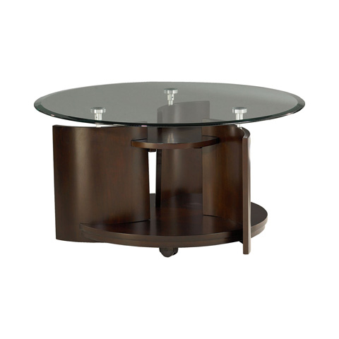 Hammary Furniture - Round Cocktail Table with Glass Top - 105-911