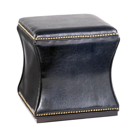 Hammary Furniture - Hidden Treasures Black Faux Leather Storage Cube - 090-426