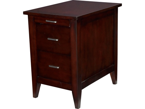Hammary Furniture - Chairside Table in Merlot - T73738-00